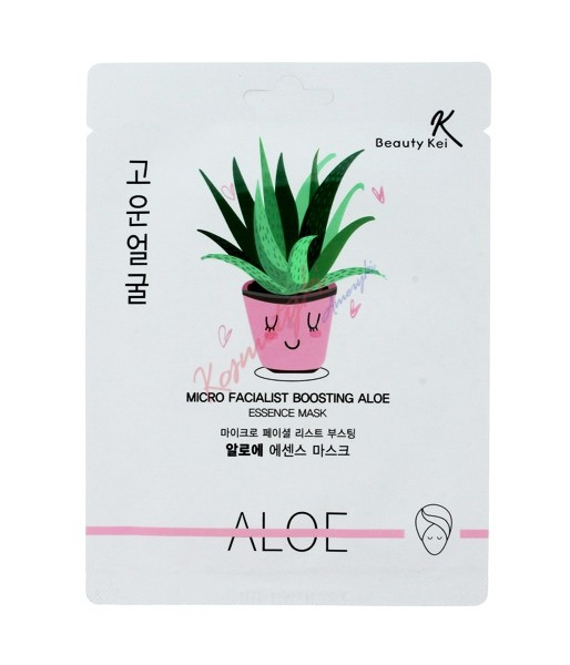 BEAUTY KEI  Micro Facialist Boosting Aloe Essence Mask